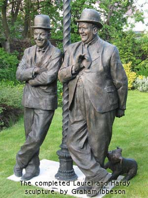 Laurel and Hardy sculpture