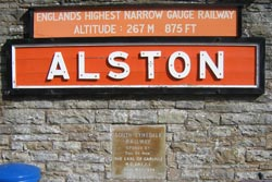 Alston railway sign