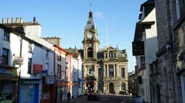 Kendal Town Hall and Clock